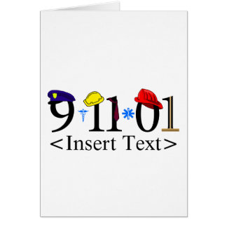 Customizeable 9-11-01 card