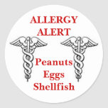 Customizeable allergy stickers