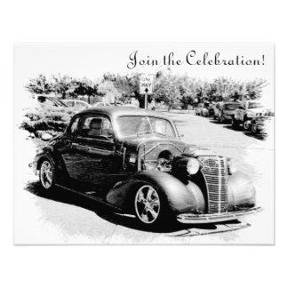 Customizeable Antique Car Retirement Party Invite