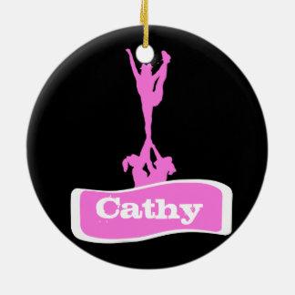 Customizeable  Cheerleader stunt ornament