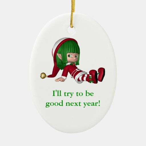 Customizeable Christmas ornament elf