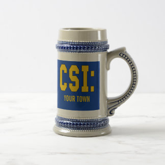 CUSTOMIZEABLE CSI Products 18 Oz Beer Stein