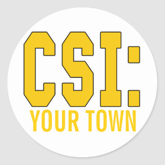CUSTOMIZEABLE CSI Products Stickers