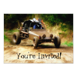Customizeable Dune Buggy Mudfest  -You're Invited! Card