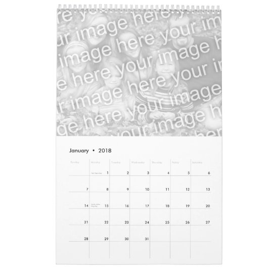 customizeable father's day calendar