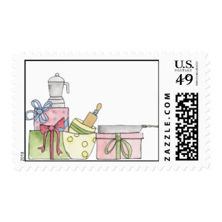 Customizeable Kitchen Shower Pots and Pans Stamps