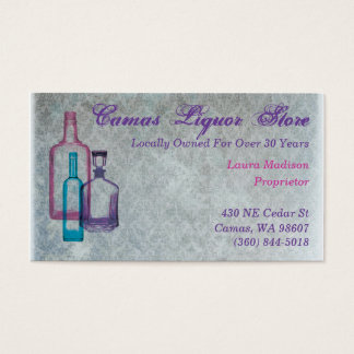 Customizeable Liquor Business Cards