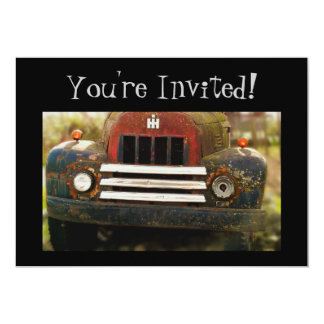 Customizeable Old Vintage Truck  You're Invited! Card
