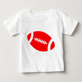 Customizeable Red Football Baby T-Shirt