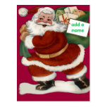 Customizeable Santa Claus Cards and Stickers Postcards