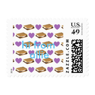 customizeable s'mores and hearts stamp