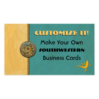 Customizeable SOUTHWESTERN Designer Double-Sided Standard Business Cards (Pack Of 100)