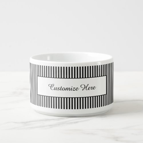 Customizeable Striped Chili Bowl or Cereal Bowl