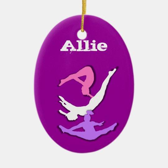 Customizeable Trampoline gymnast ornament