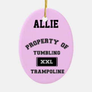 Customizeable Tumbling Trampoline gymnast ornament