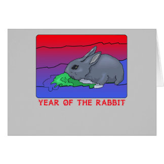 Customizeable Year of the Rabbit Design Greeting Card