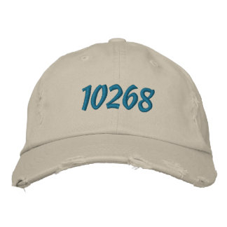 Customizeable Zip or Postal Code Embroidered Baseball Hat