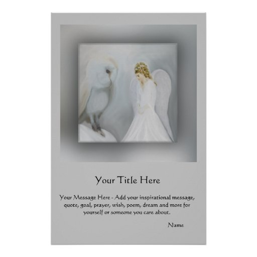 CustomizeABLEs - Angel and owl Poster