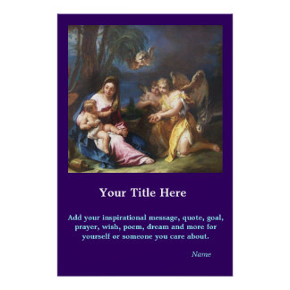 CustomizeABLEs - Mary and Child Poster