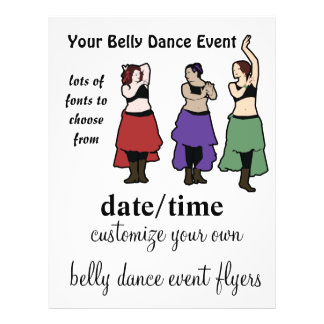 Customizeably belly dance event flyers