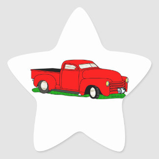 Customized 1950 Chevy Pickup Star Sticker