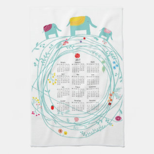 Customized 2013 Calendar Kitchen Towels at Zazzle