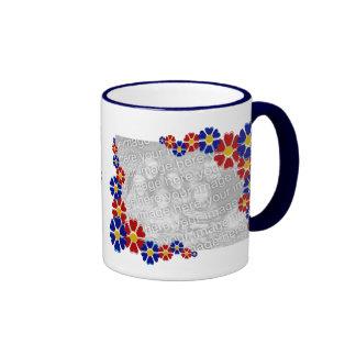 Customized 2 Instagram Photos Retro Daisy Flowers Mug
