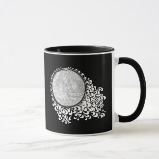 Customized 2 Instagram Photos Round Frames Retro Mug
