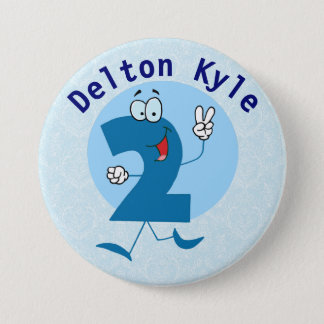 Customized 2 Year Old Birthday Button