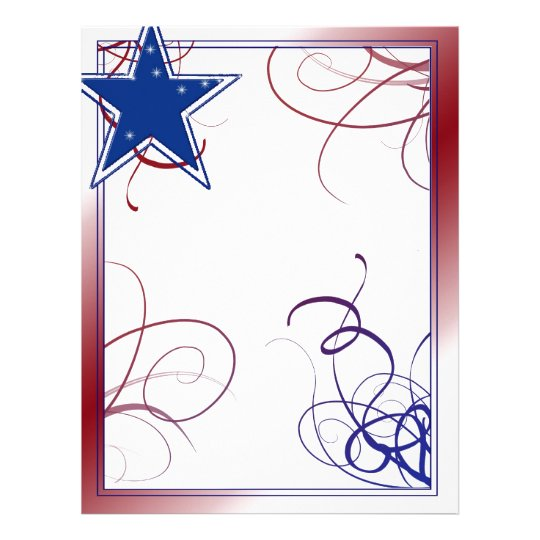 Customized 4th of July Letterhead