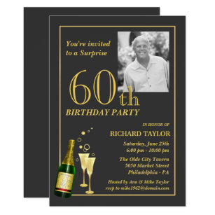 60th Birthday Party Invitations Announcements Zazzle