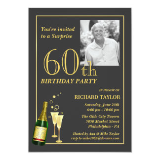 Customized 60th Birthday Party Invitations