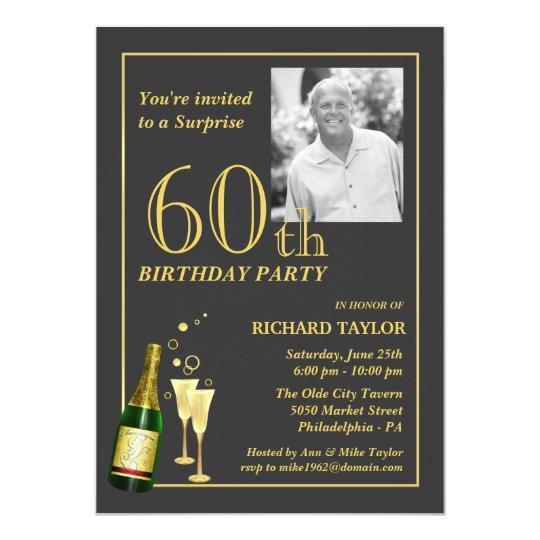 60th Birthday Party Invitations & Announcements | Zazzle