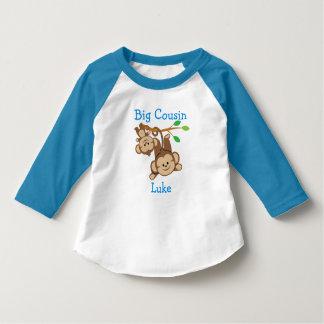 Customized Add a Name Boy Monkeys Big Cousin T-Shirt