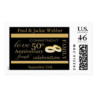 Customized Anniversary Party Postage Stamps