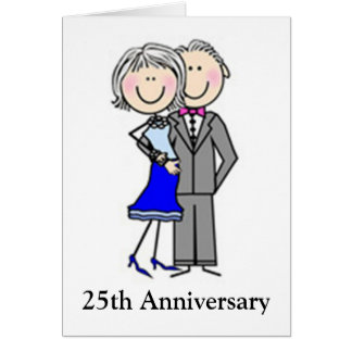 Customized Anniversary Stick Figures Card