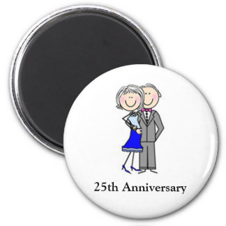 Customized Anniversary Stick Figures Magnet