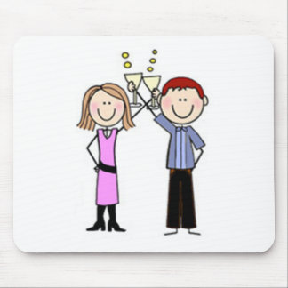 Customized Anniversary Stick Figures Mouse Pad