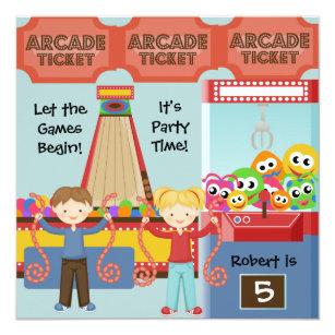 arcade invitations zazzle