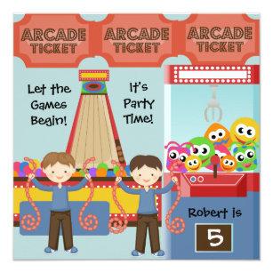 Arcade Invitations Announcements Zazzle