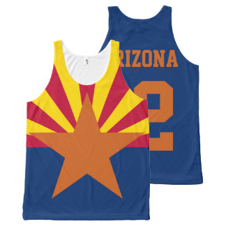 Customized Arizona Est. 1912 State Flag All-Over Print Tank Top