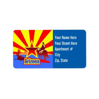 Customized Arizona State Flag Vintage Drawing Label