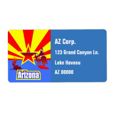 Customized Arizona State Flag Vintage Drawing Label
