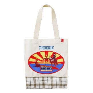 Customized Arizona State Flag Vintage Drawing Zazzle HEART Tote Bag