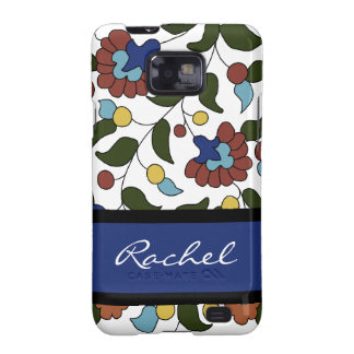 Customized Armenian Floral Pattern - Blue & White Samsung Galaxy SII Covers