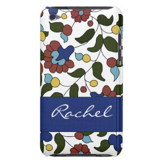 Customized Armenian Floral Pattern - Blue & White iPod Touch Case