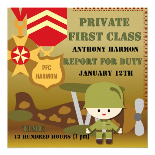 Customized Army Birthday Invitations