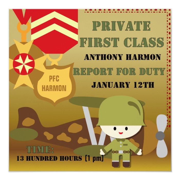 Customized Army Birthday Invitations