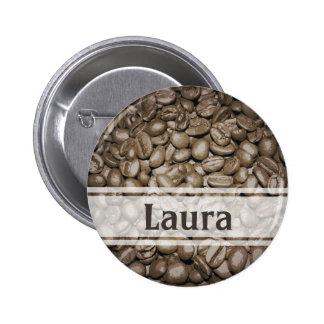 Customized barista design button