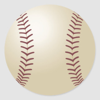 Customized Baseball Classic Round Sticker